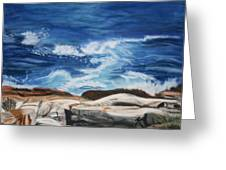 Rocks Above The Sea Greeting Card