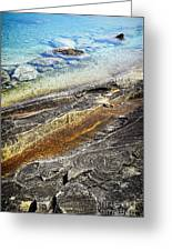 Rocks And Clear Water Abstract Greeting Card by Elena Elisseeva