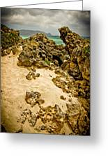 Rocks And Sand Of Elafonisi Greeting Card