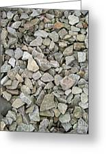 Rocks And Stones Texture Greeting Card