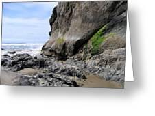 Rocks At Arcadia Beach Greeting Card