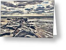 Rocks At Cape May Greeting Card