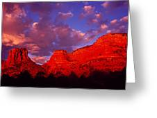 Rocks At Sunset Sedona Az Usa Greeting Card