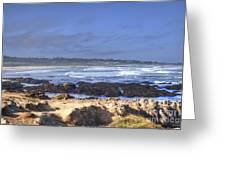 Rocks Before Beach Greeting Card