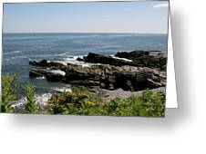 Rocks Below Portland Headlight Lighthouse 1 Greeting Card