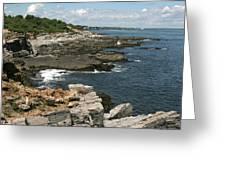 Rocks Below Portland Headlight Lighthouse 2 Greeting Card