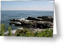 Rocks Below Portland Headlight Lighthouse 4 Greeting Card