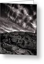 Rocks Clouds Water Greeting Card