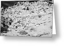 Rocks Forming Support For The Old Arrowhead Trail Road Valley Of Fire State Park Nevada Usa Greeting Card