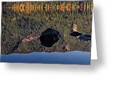 Rocks In Crescent Lake Greeting Card