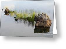 Rocks In Lake Greeting Card