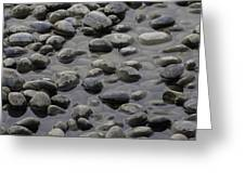 Rocks In Shallow Water Greeting Card