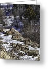 Rocks In Snow Greeting Card