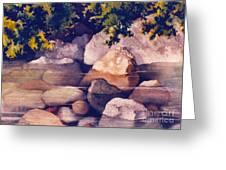 Rocks In Stream Greeting Card