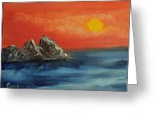 Rocks In The Flathead Lake Greeting Card