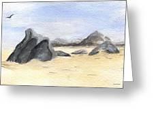 Rocks On Beach Greeting Card