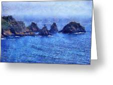 Rocks On Isle Of Guernsey Greeting Card