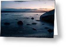 Rocks At A Shore Greeting Card