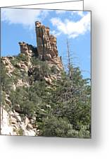 Rocks Reaching To The Sky Greeting Card