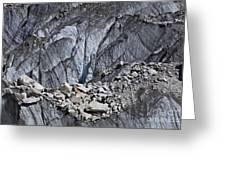 Rocks Resting On The Ghulkin Glacier Greeting Card