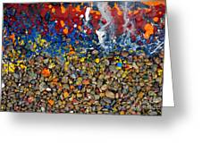 Rocks Splattered With Paint Greeting Card by Amy Cicconi