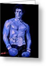 Rocky Blue Greeting Card by Michael Mestas