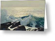 Rocky Coast And Sea Greeting Card