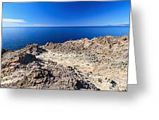 rocky coast in San Pietro island Greeting Card