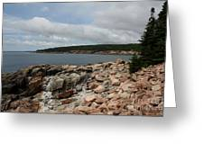 Rocky Coastline Acardia Park Greeting Card