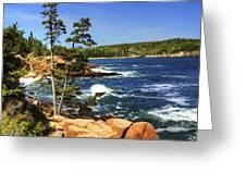 Rocky Coastline Greeting Card