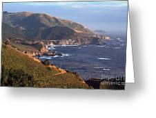 Rocky Creek Bridge In Big Sur Greeting Card by Charlene Mitchell