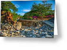 Rocky Garden Walk Greeting Card
