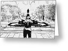 Rocky Is Philadelphia Greeting Card by Bill Cannon