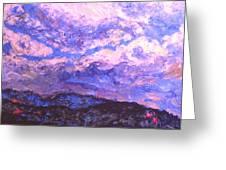 Rocky Knob Clouds Greeting Card