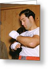 Rocky Marciano Getting Ready Greeting Card