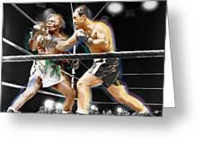 Rocky Marciano V Jersey Joe Walcott Greeting Card