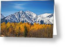 Rocky Mountain Autumn High Greeting Card