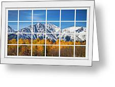 Rocky Mountain Autumn High White Picture Window Greeting Card