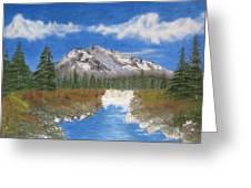 Rocky Mountain Creek Greeting Card