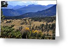 Rocky Mountain Evening Greeting Card