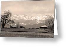 Rocky Mountain Lafayette Sepia Views Greeting Card