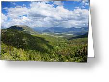 Rocky Mountain National Park Panorama Greeting Card