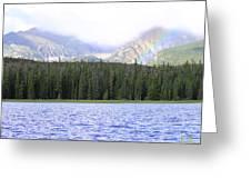 Rocky Mountain Rainbow Greeting Card