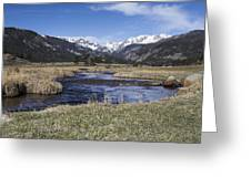 Rocky Mountain Stream Wide Angle Greeting Card