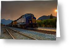 Rocky Mountaineer Sunrise Greeting Card