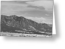 Rocky Mountains Flatirons And Longs Peak Panorama  2 Greeting Card