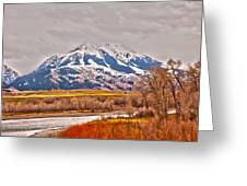 Rocky Mountains In Montana Greeting Card