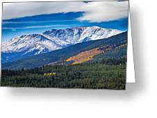 Rocky Mountains Independence Pass Greeting Card
