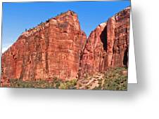 Rocky Mountains Of Zion Greeting Card