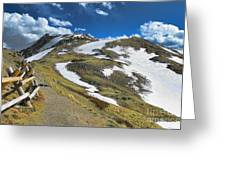 Rocky Mountains Path Greeting Card